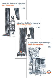 Trains Series Book Covers by S.Lea. A mother's story on how to deal with Asperger's